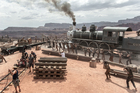 A behind the scenes look at one of the train scenes from 'The Lone Ranger'. Photo / AP