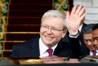 Rudd's return to power and the huge burst of oxygen it gave Labor has shaken the Opposition. Photo / AP