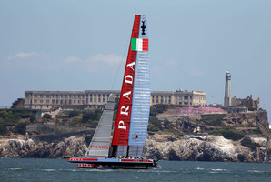 Luna Rossa are adamant they won't race until the jury rules on their protest. Photo / AP