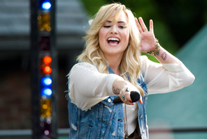 Demi Lovato says there's a fast way to get famous.Photo / AP