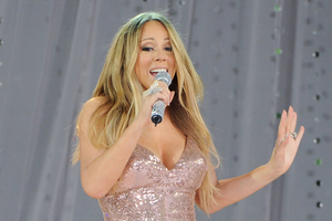 Mariah Carey has been released from hospital in a wheelchair.Photo / AP