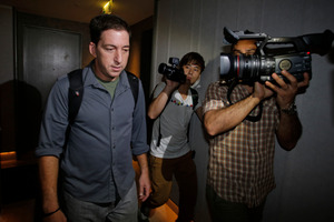 Guardian reporter Glenn Greenwald has been targeted by his peers. Photo / AP