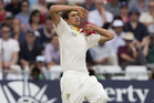 Agar admits he had a tear in his eye before he took the field to bowl at Trent Bridge in front of his family. Photo / AP