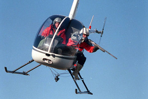 Rabbit shooting by helicopter. Photo / Otago Daily Times