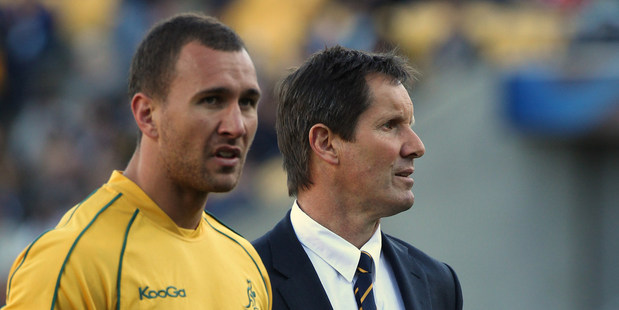 Robbie Deans finally got rid of Quade Cooper, after some toxic tweets, for the Lions series. Photo / Paul Estcourt