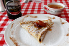Crepes with Calvados as served at Le Garde-Manger restaurant in Kingsland, Auckland. Photo / Chris Gorman