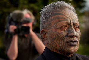 Tame Iti says he supports the Maori Party despite the break away of Hone Harawira. Photo / Alan Gibson