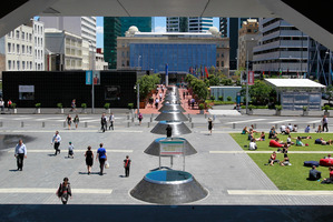 """The Britomart terminus, picture here in the late 1990s, was derided by former Auckland mayor John Banks as a """"garage at the bottom of Queen St"""". Today the Britomart precinct, as well as reviving rail, has been key to turning a once 'scar' downtown Auckland into a more popular and liveable place. Photo / Steven McNicholl"""