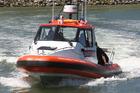 Wanganui Coastguard recovered the catamaran 2km downstream. Photo / WC