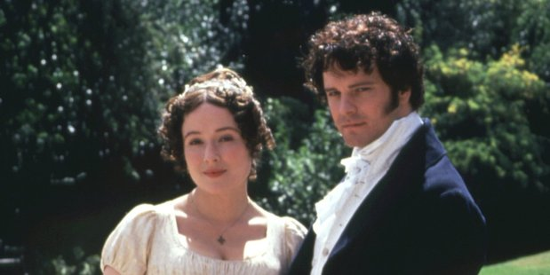 Jennifer Ehle as Elizabeth Bennet and Colin Firth as Mr Darcy in the BBC adaptation of Jane Austen's 'Pride and Prejudice'.