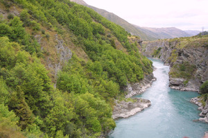 A rock fall in the Kawarau Gorge near Queenstown has closed State Highway 6 between the Crown Range and Cromwell. Photo / CHRISTCHURCH STAR