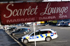 The Scarlet Lounge brothel, in Clyde St, Whangarei, was robbed at knifepoint early yesterday.  Photo / John Stone