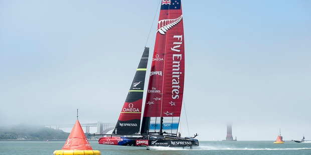 Emirates Team New Zealand are setting a cracking pace for the America's Cup field. Photo / Chris Cameron/ETNZ