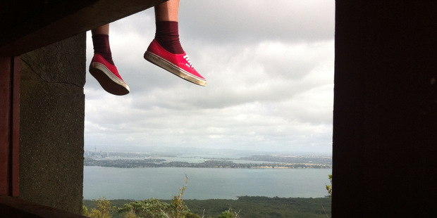Rangitoto's war bunkers have spectacular views. Photo / Philipee Dierick