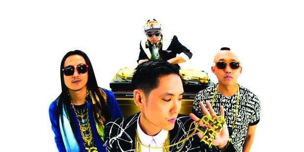 Hip hop dance band Far East Movement.