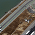 This aerial photo shows the crash site of Asiana Flight 214, right, at the San Francisco International Airport. Photo / AP