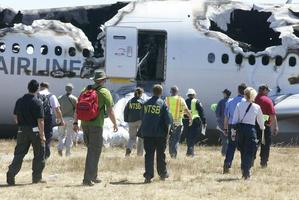 Asiana Airlines Flight 214 after crashing at at San Francisco airport. Photo / US National Transport Safety Board @NTSB