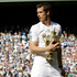 Murray walks off the court with trophy in hand. Photo / AP