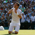 Andy Murray reacts after match point to claim his maiden Wimbledon title. Photo / AP