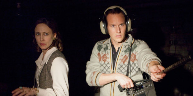 Loading Vera Farmiga and Patrick Wilson in a scene from The Conjuring.