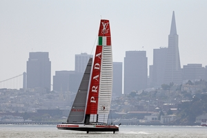 Luna Rossa were so slow the race should have been adandoned. Photo / AP