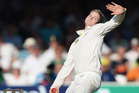 Steve Smith of Australia bowls during day one of the 2nd Investec Ashes Test match. Photo / Getty Images