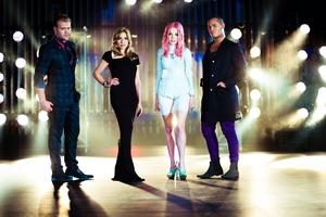 X-Factor judges Daniel Bedingfield, Melanie Blatt, Ruby Frost and Stan Walker. Photo / AP