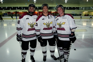 Brothers in arms - Botany Swarm  players from left, Oliver, Andrew and  Joshua Hay. Photo / Sarah Ivey