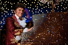 Michael Douglas as Liberace in Behind the Candelabra.