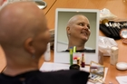 Carolyn Parris, from Auckland, gets some pampering during a Look Good Feel Better workshop. Photo / Brett Phibbs