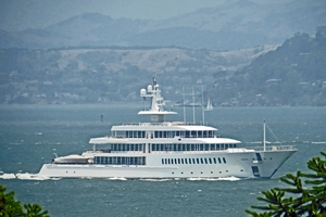 The 88m mega-yacht Musashi has a crew of 23 and has room for 18 guests.