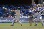 Australia's Chris Rogers was trapped lbw by Graeme Swann after a delivery the English spinner called the