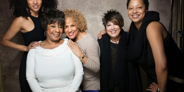 Judith Hill (left), Merry Clayton, Darlene Love, Tata Vega and Lisa Fischer feature in the documentary. Photo / AP