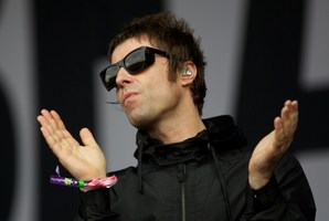 Liam Gallagher's wife has told him not to return home. Photo / AFP