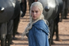 Emilia Clarke in a scene from Game of Thrones, nominated for a best drama series Emmy award. Photo / AP