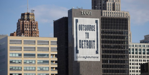 Detroit lost a quarter-million residents between 2000 and 2010.  Photo / AP