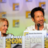 "Gillian Anderson, left, and David Duchovny attend the ""The X Files"" 20th Anniversary panel on Day 2 of Comic-Con International. Photo / AP"