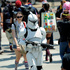 A Stormtrooper makes his way through the crowd during Day 2. Photo / AP