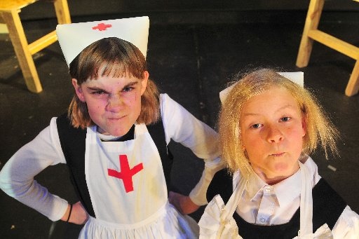 Junior Harlequin Theatre's production of Bungling Burglars, directed by John Mabey, running 20th, 21st July matinees and 23-26 July, Dixon Street Masterton, Saturday, Nurses played by Anna Bebbington and Neve Hopman