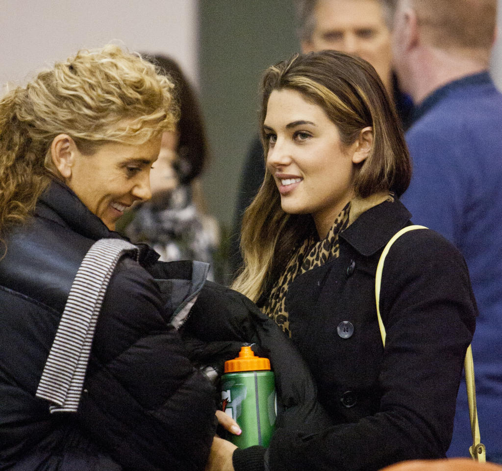Sally Ridge and daughter Jamie Ridge, who is dating Nelson Giants player Josh Bloxham if social media is anything to go by, watched Nelson beat the Otago Nuggets in the second semifinal on Saturday night.