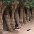 Jose strummer: A busker performs in Gaudi's Park Guell. Photo / Ewan McDonald