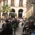 Square meal: Tourists throng restaurants in Placa Reial. Photo / Ewan McDonald