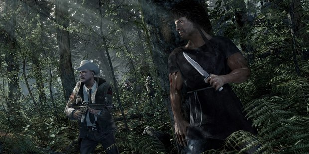 A scene from Rambo: The Video Game, due out later this year.