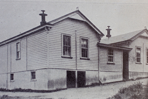 Lessons had just begun at Waikino School, near Waihi, when the farmer, armed with a revolver and a bomb, strode in.