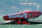 Artemis, battling to get back on the water after their fatal capsize in May, said the international jury's ruling in favour of Team New Zealand and Luna Rossa might exclude them from competing. Photo / AP