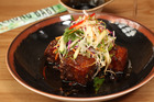 Mekong Baby's pork belly with apple slaw and chilli caramel. Photo / Chris Gorman
