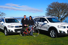 Hadleigh van den Engel of Ebbett Holden Taupo and event director Kay Brake.