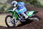 Rotorua's Scotty Canham (Kawasaki KX250F) is one of the favourites in the MX2 category this weekend. Pictures / Andy McGechan, BikesportNZ.com