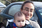 Atreyu Taylor-Matene with his mother, Jessica Taylor. Police have launched a homicide inquiry into the infant's death.