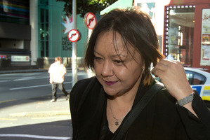 Lawyer Davina Murray arrives at the Auckland District Court. Photo / Brett Phibbs